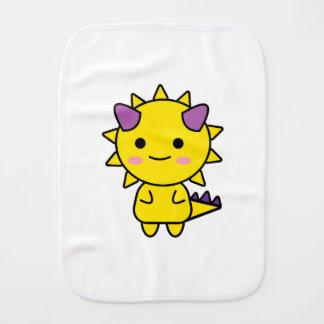 Handy Yellow Dinosaur Kawaii Cartoon Baby Burp Cloth