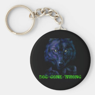 handylogos_woelfe_010_240x3201, DOG-GONE-WRONG Basic Round Button Keychain