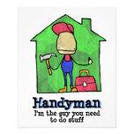 "HandyMan. Builder. Construction. Contractor. 4.5"" X 5.6"" Flyer"