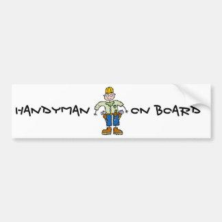 Handyman Car Bumper Sticker