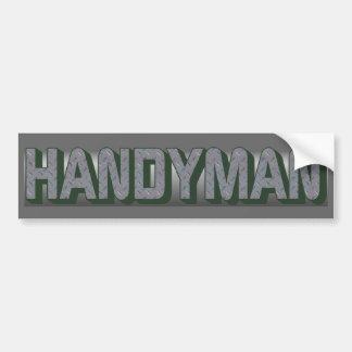 HANDYMAN Bumper Sticker Car Bumper Sticker