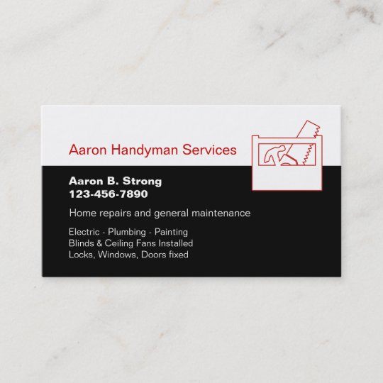 Handyman business card template zazzle handyman business card template friedricerecipe Gallery