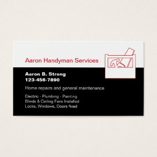 Handyman Services Business Cards Templates Zazzle - Handyman business card template