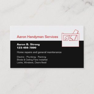 Plumbing and electrical business cards zazzle handyman business card template cheaphphosting Choice Image