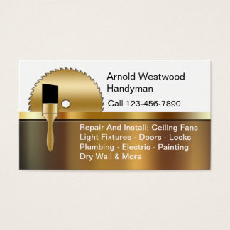 Handyman Business Cards & Templates | Zazzle