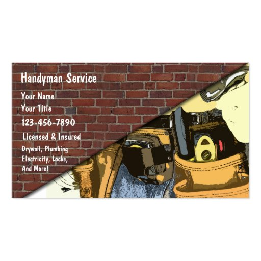 Handyman Business Cards : Zazzle