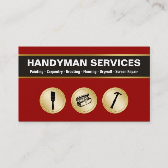 Handyman business cards zazzle handyman business cards colourmoves
