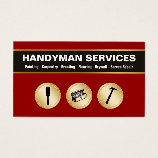 Handyman Business Cards Zazzlecom