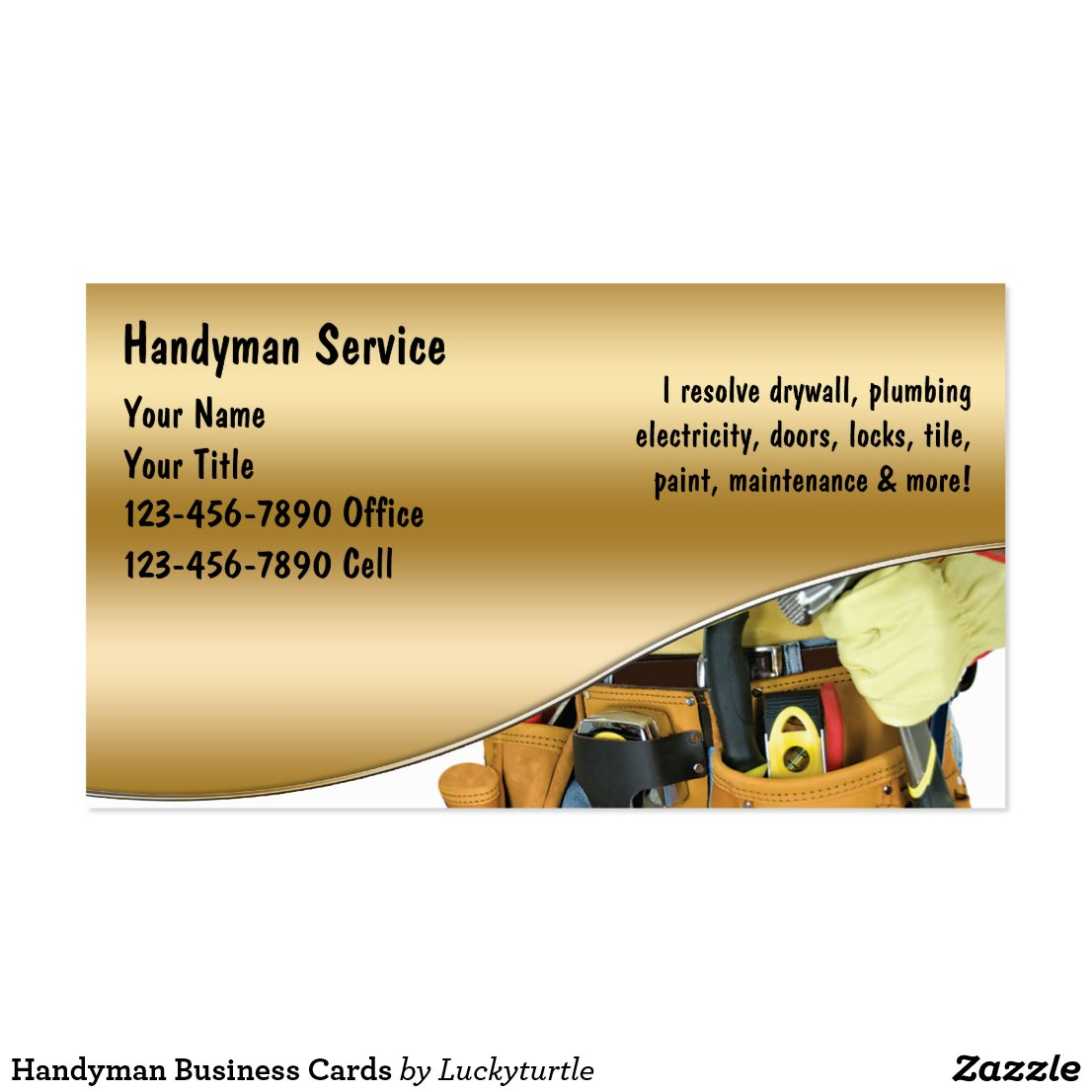 Handyman Logos For Business Cards Maintenance And