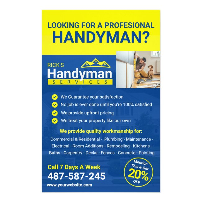 Handyman Business Promo Flyer - Home Business