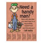 Handyman Carpenter Plumber Painter Earn Money Flyer Design