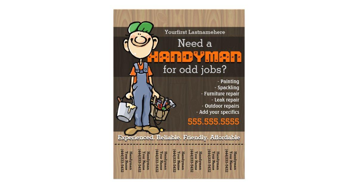 HandymanCarpenterPlumberPainterOdd jobs Flyer – Now Hiring Flyer Template