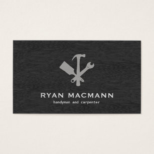 Handyman business cards templates zazzle handyman carpenter tools home improvement business card accmission Choice Image