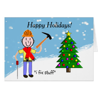 Handyman Christmas Cards