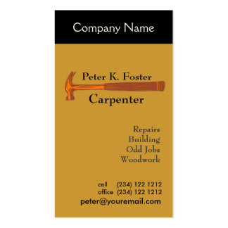 Handyman Construction Double-Sided Standard Business Cards (Pack Of 100)