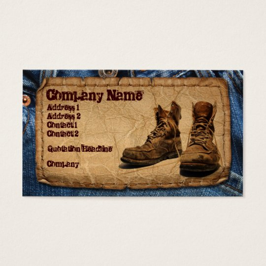 Handyman, Construction, Maintenace Worker Business Card