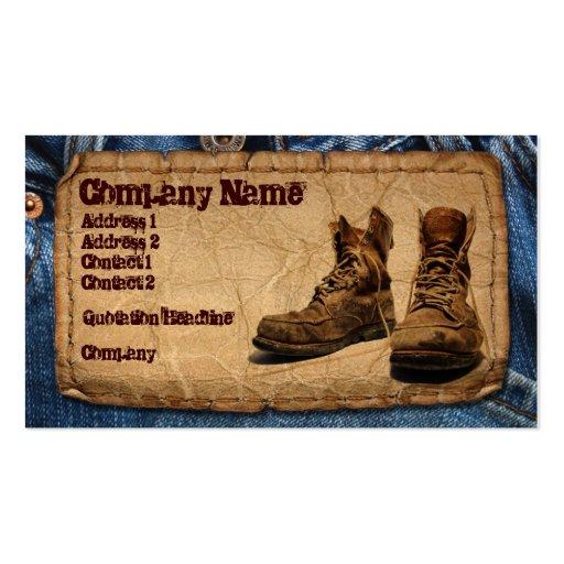 Handyman, Construction, Maintenace Worker Business Card Templates