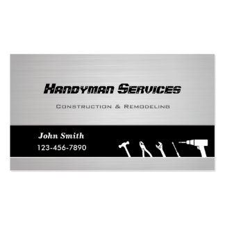 Handyman construction remodeling business cards