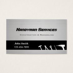 Handyman Construction Remodeling Business Cards at Zazzle