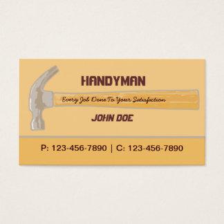 Handyman/ Contractor/ Carpenter Business Card