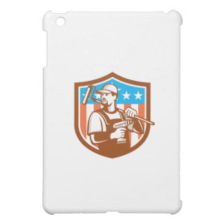 Handyman Cordless Drill Paintroller Crest Flag Ret iPad Mini Cases