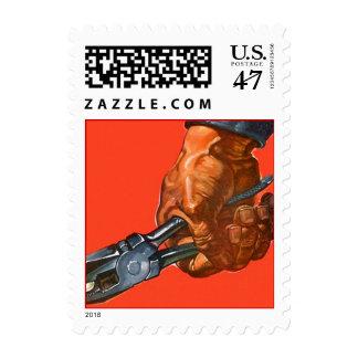 Handyman DIY Pliers Tool Gripping Grip Hand Stamp
