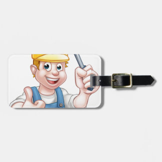 Handyman Electrician With Screwdriver Luggage Tag