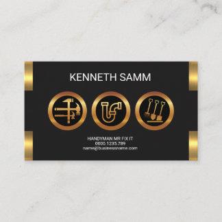 Handyman Fabulous Faux Gold Presentation Business Card