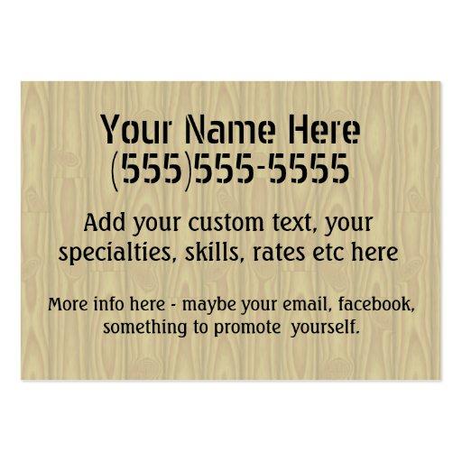 Handyman Fix-It Carpenter Painter Job Search Earn Business Card Template (back side)
