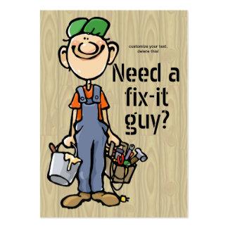Handyman Fix-It Carpenter Painter Job Search Earn Large Business Card