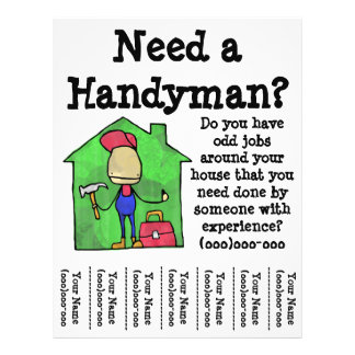 Handyman Flyers & Programs | Zazzle