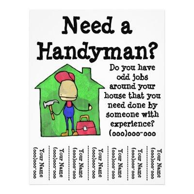 Handyman Flyer  ZazzleCom