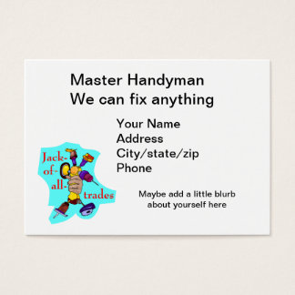 Handyman for everything business card