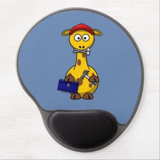 Handyman Giraffe Blue Background Gel Mouse Pads