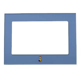 Handyman Giraffe Blue Background Magnetic Photo Frame