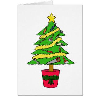 Handyman Happy Christmas Card