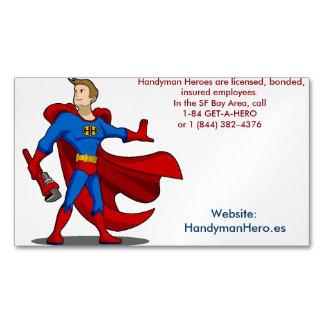 Handyman Hero.es Customizable Magnetic Cards