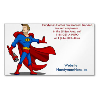 Handyman Hero.es Customizable Magnetic Cards Magnetic Business Cards (Pack Of 25)