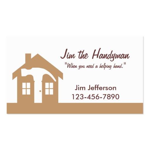 handyman home repair brown business card zazzle