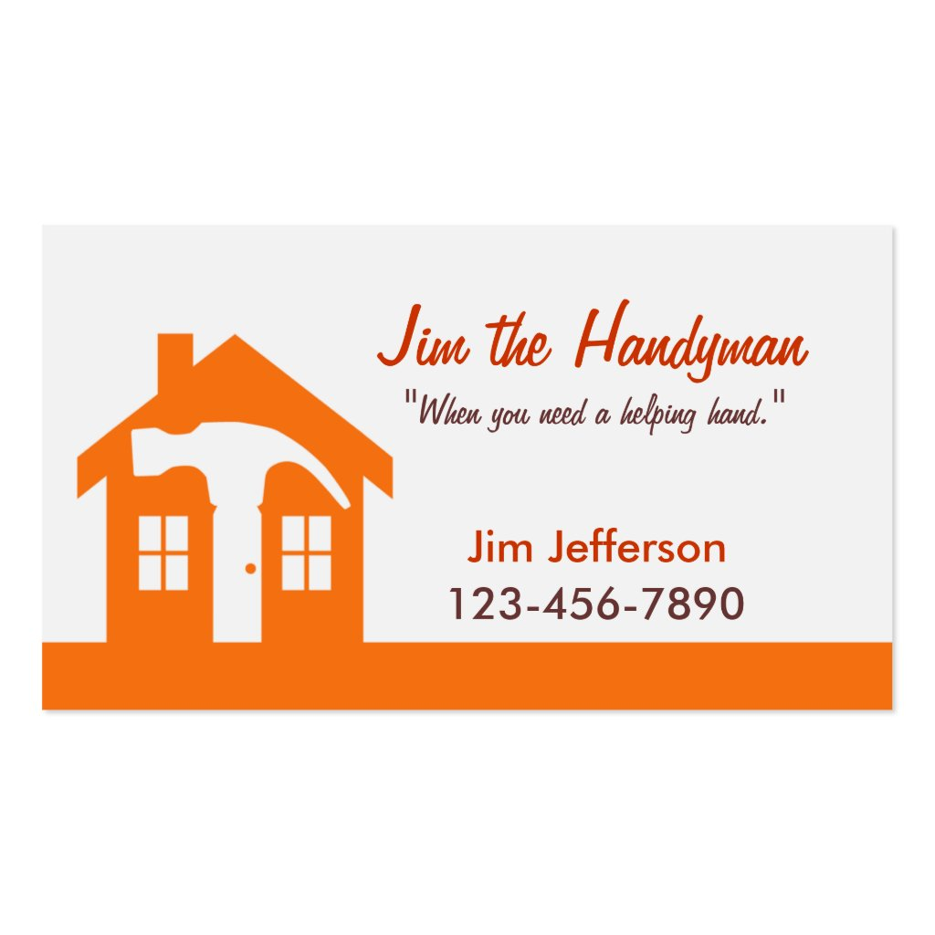 Wonderful Home Repair Business Cards Gallery - Business Card Ideas ...