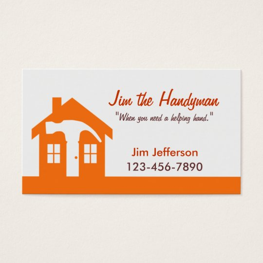 Handyman/Home Repair/ Orange Business Card