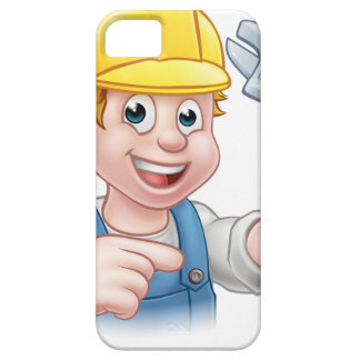 Handyman Mechanic or Plumber with Spanner iPhone SE/5/5s Case