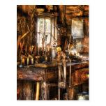 Handyman - Messy Workbench Postcard