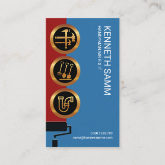 Handyman Mr Fix-It Iconic Icons Business Card