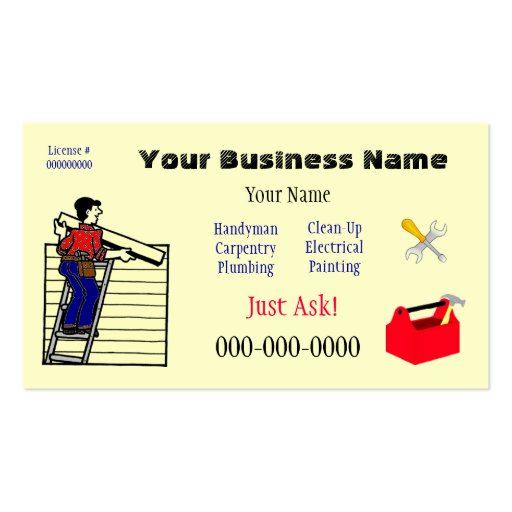 Handyman (Or?) Business Card