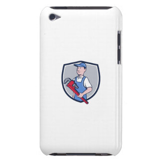 Handyman Pipe Wrench Crest Cartoon Barely There iPod Case