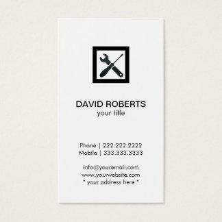 Handyman Plumber Simple Plain Professional Business Card