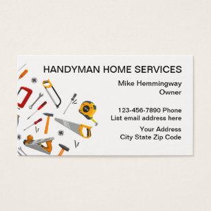 Handyman business cards templates zazzle handyman professional design business card reheart Choice Image