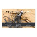 Handyman Repairman Carpenter Business Card