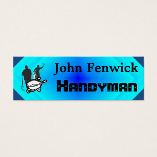 Handyman Service Blue Mini Business Card